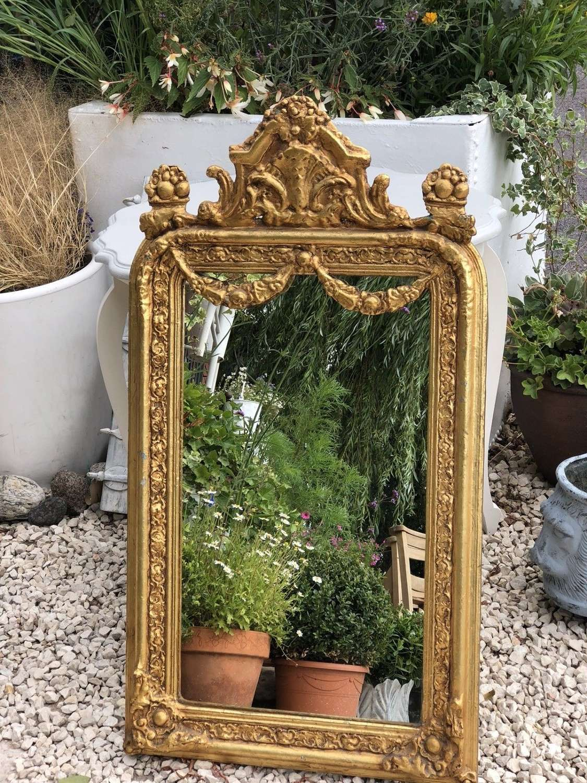 19th Century gilt wood mirror