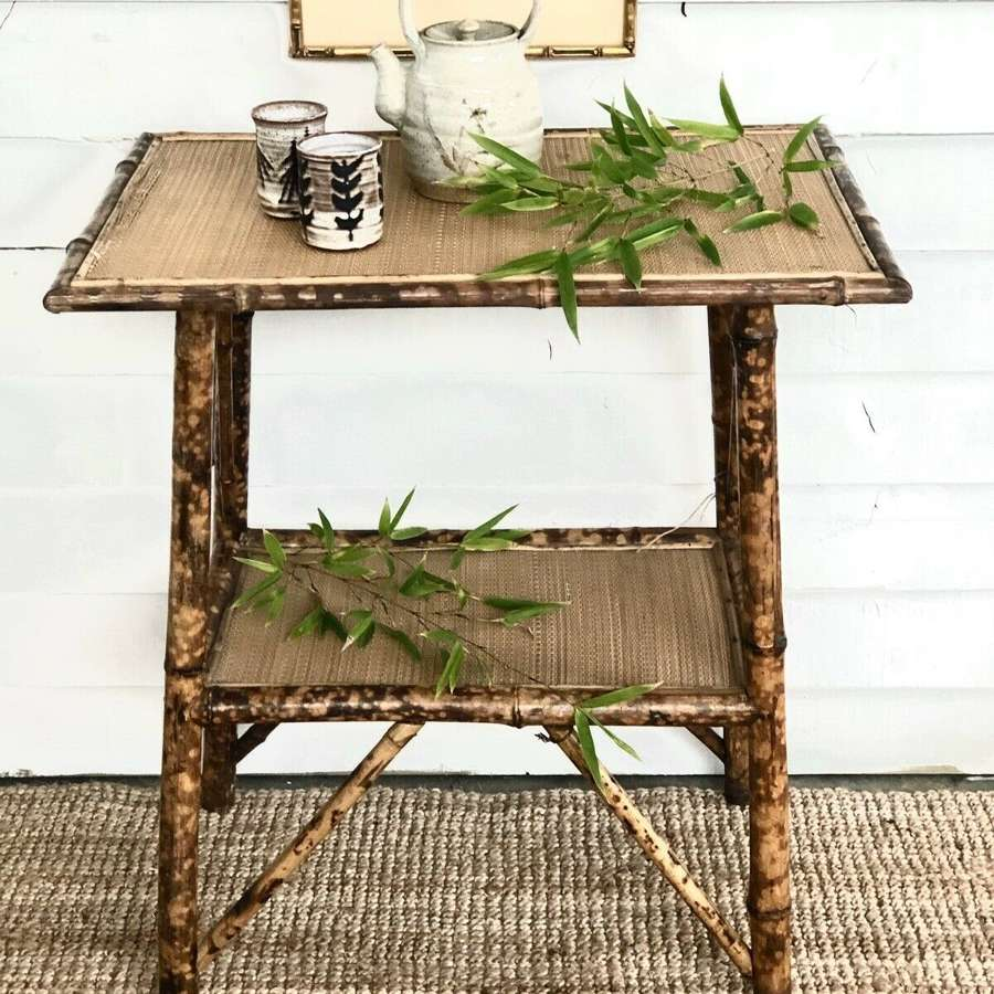 Antique Victorian Tiger Bamboo table