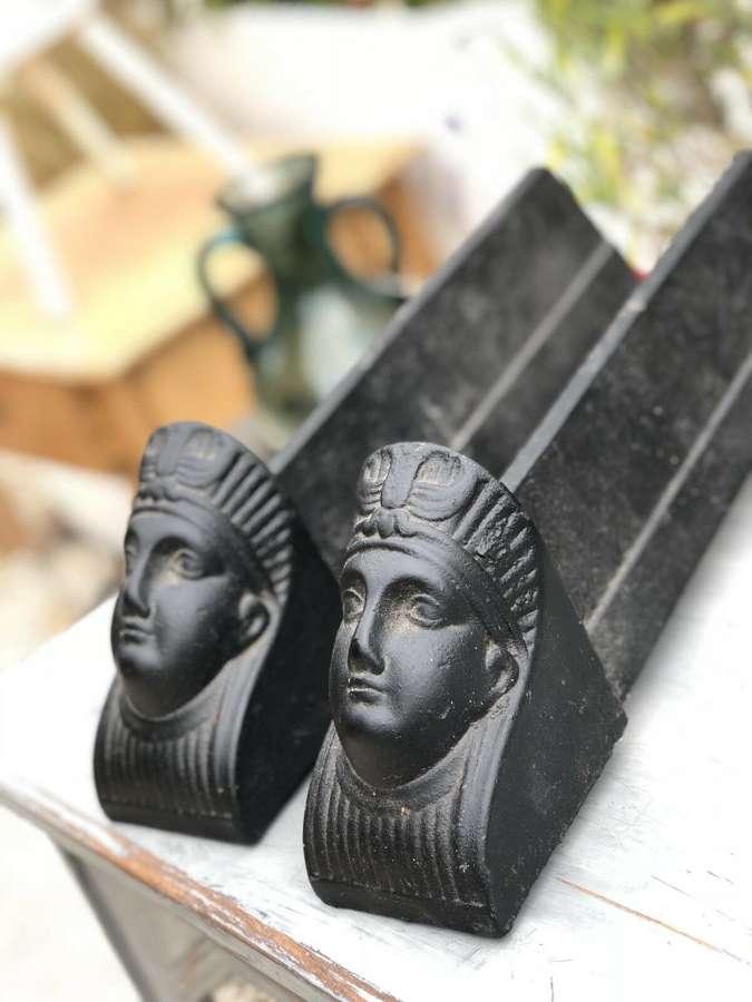 Egyptian revival firedogs
