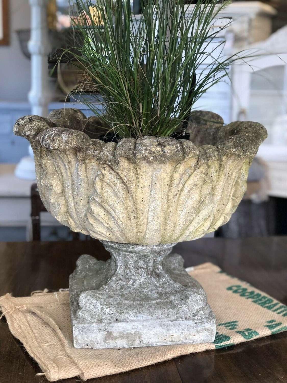 Vintage Garden Urn Planter Composite Stone.