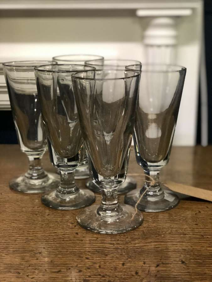 Antique Absinthe Glasses Set Of Six