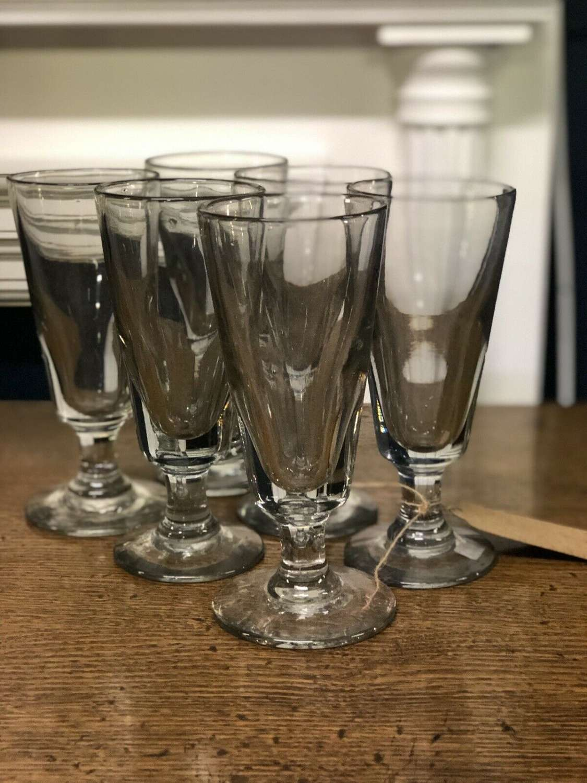 Antique Absinthe Glasses Set Of Six