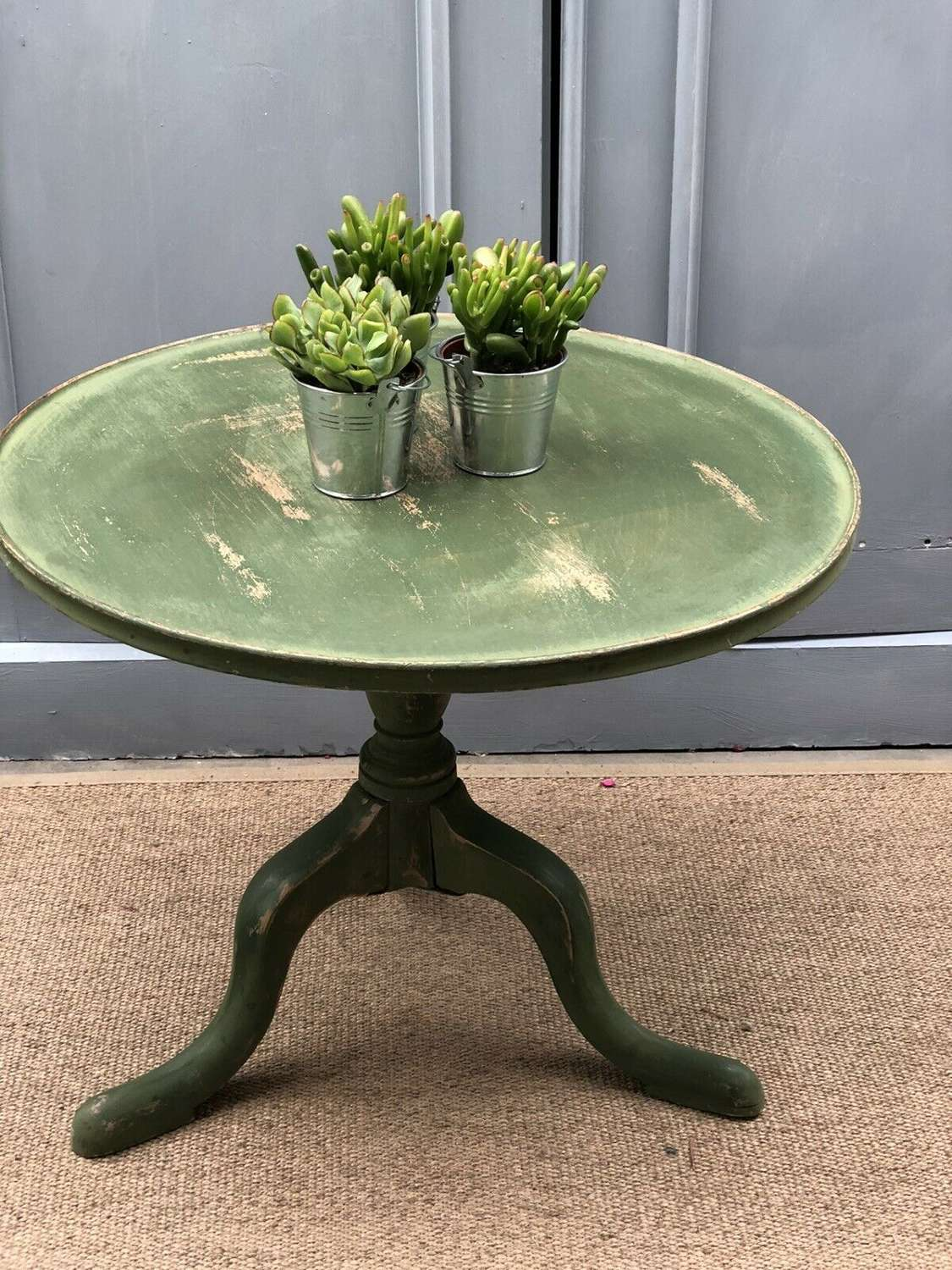 Painted distressed Georgian table