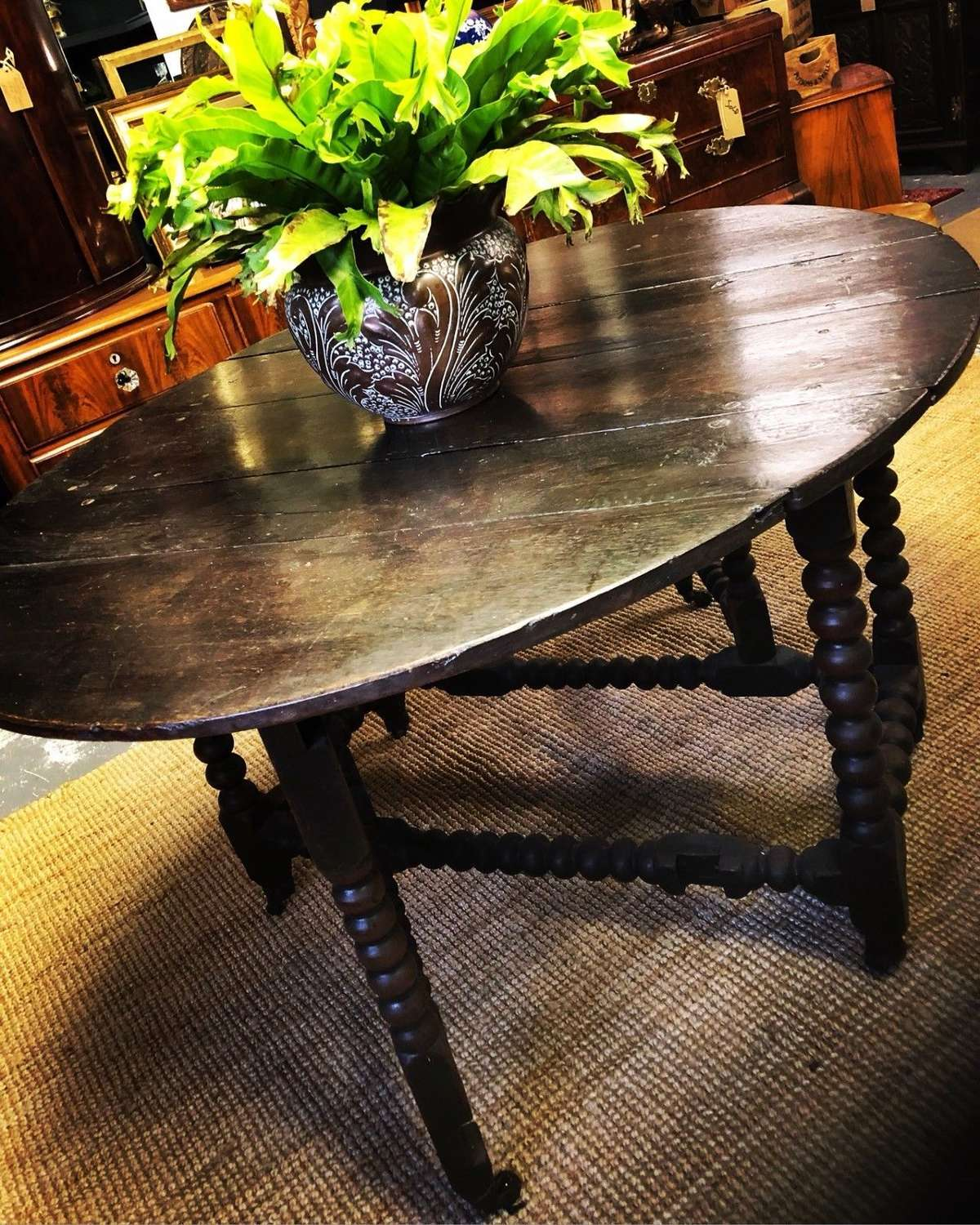 17th Century Oak gate leg table