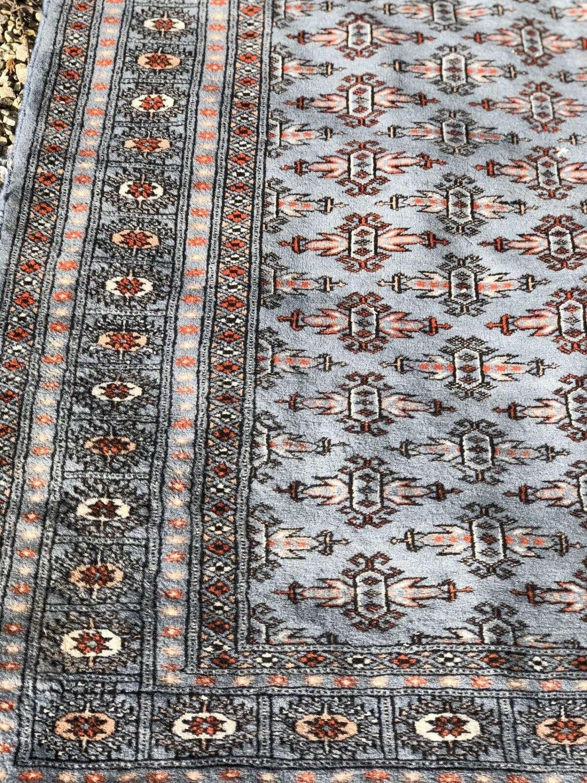 Vintage Afghan rug grey