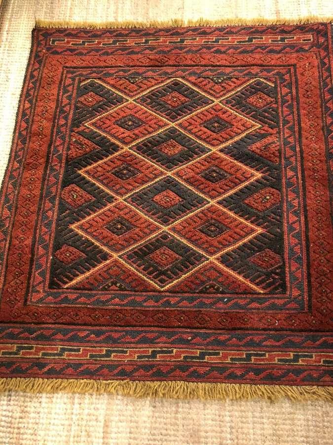 Vintage Hand Made Afghan Sofra Rug .