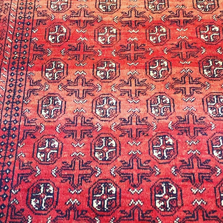 Antique Afghan rug