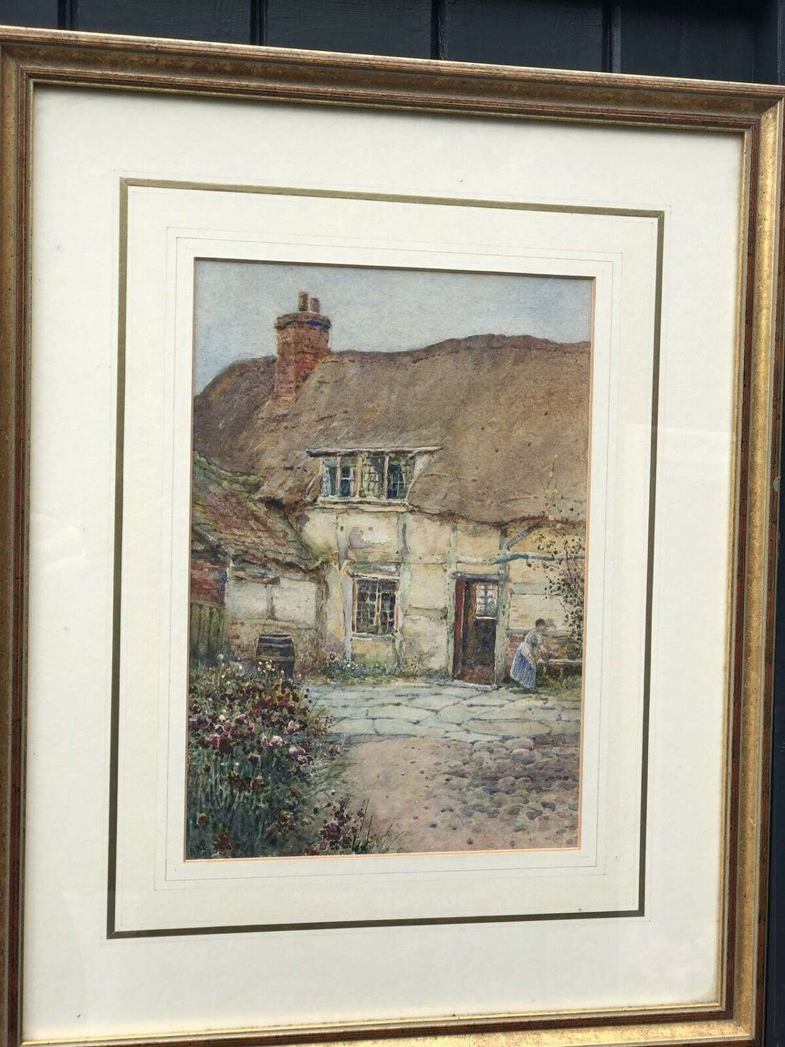 English Cottage watercolour