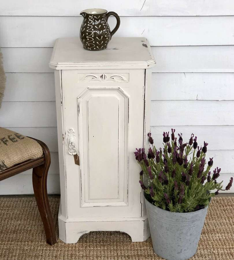 Painted Bedside Cabinet In Cream