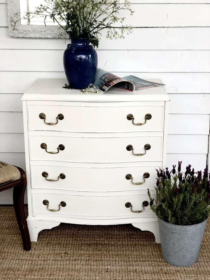 Painted cream chest of drawers