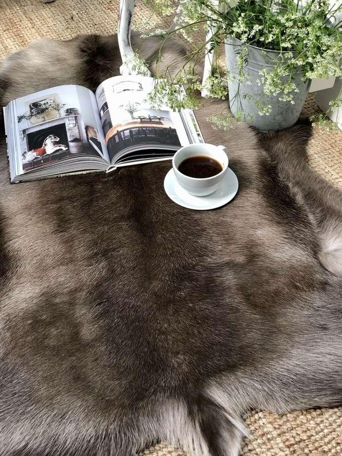 Premium quality Russian Reindeer hide rug