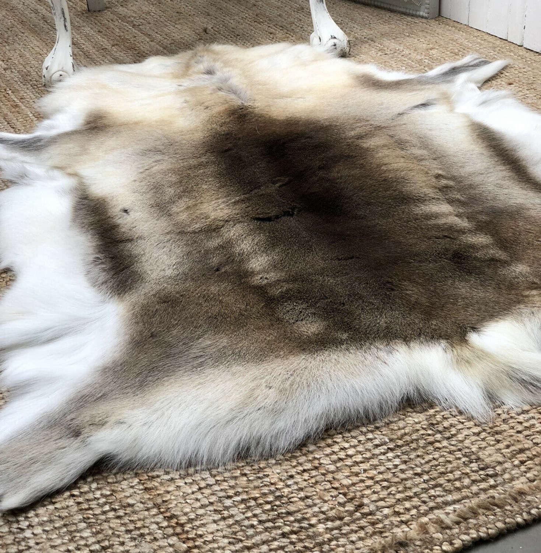 Scandanavian Reindeer hide rug
