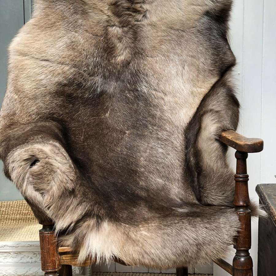 Russian Reindeer hide rug