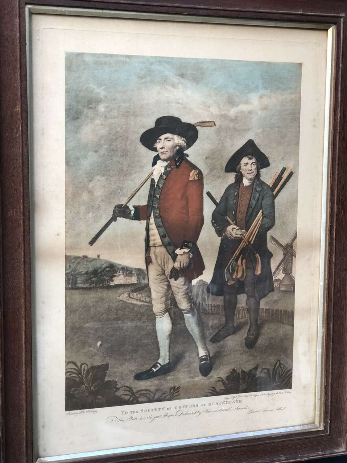 Society Of Golfers Mezzotint