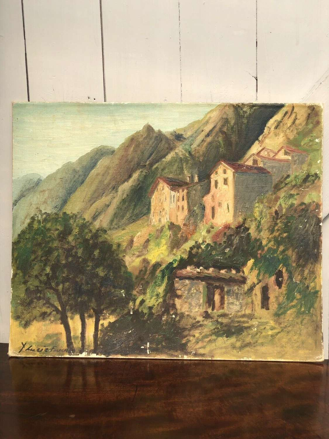 Andorra oil on board