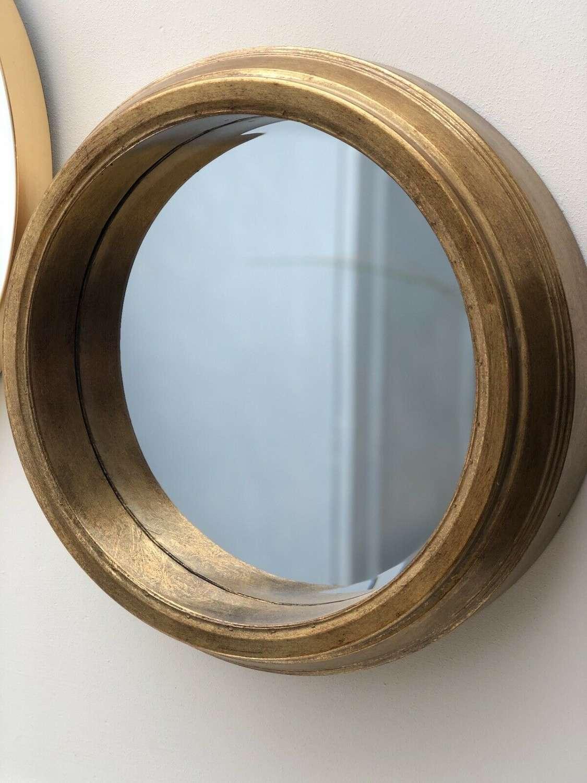 Round Gold rim mirror