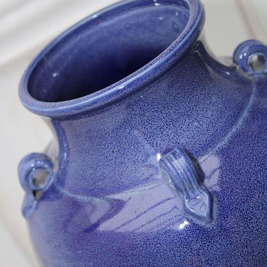 Blue glaze vase