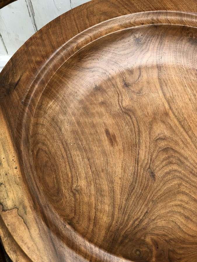 Large wooden platter