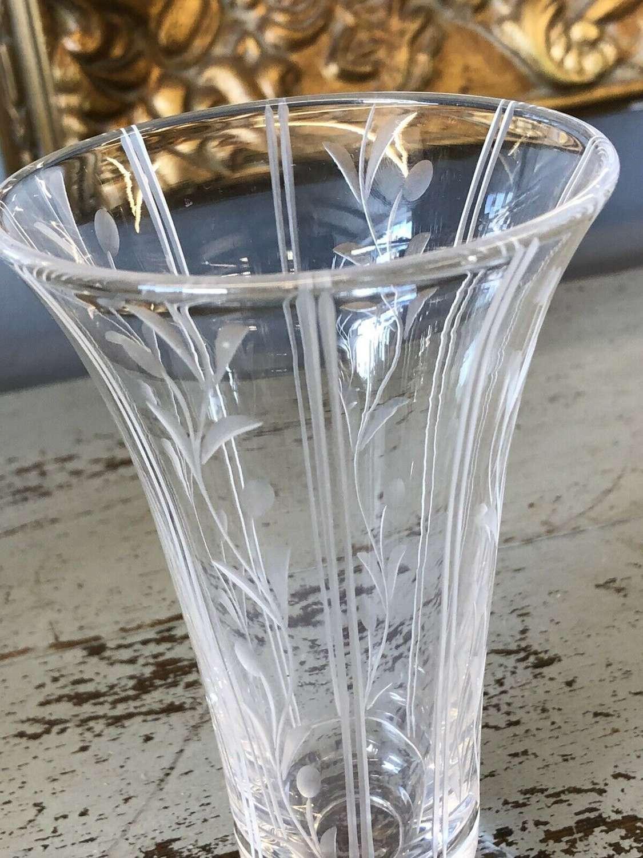 Stuart Crystal Flower Vase .