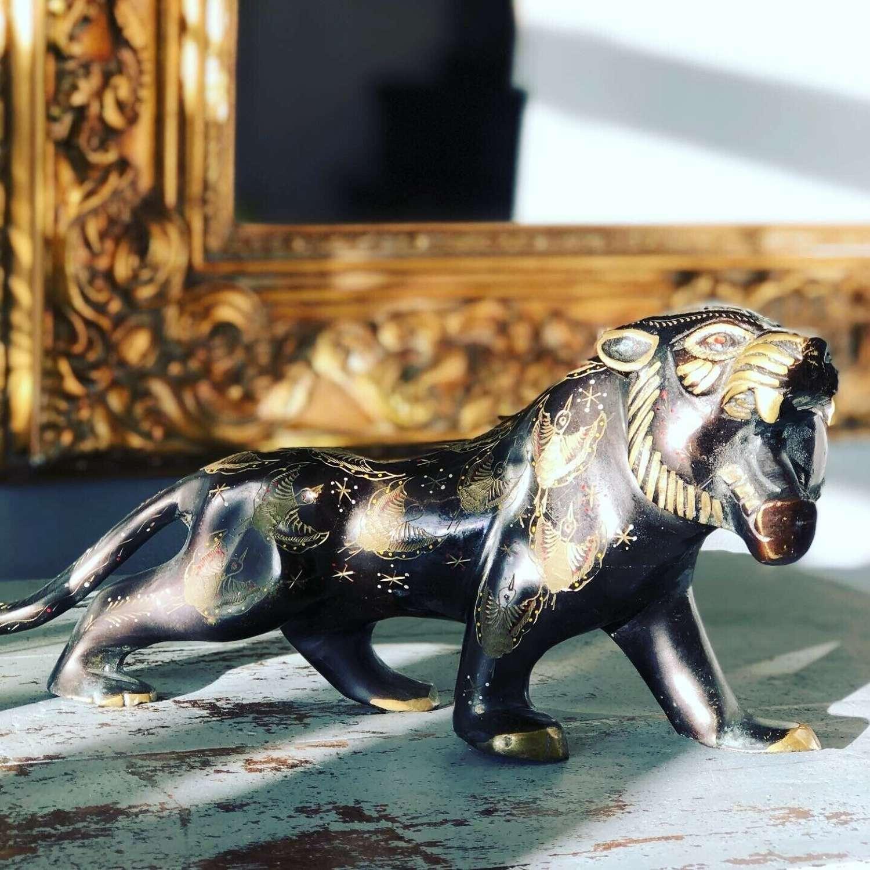 19th Century Bronze Japanese Tiger.