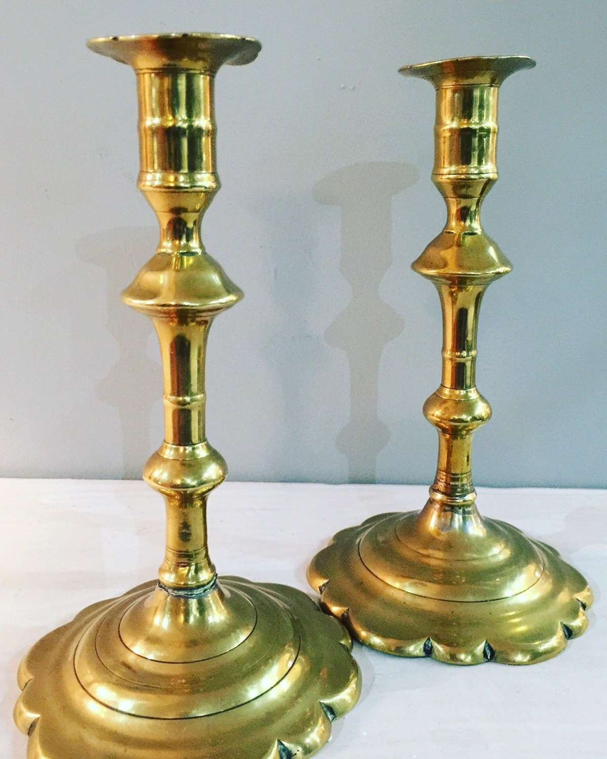18th Century petal base candle sticks