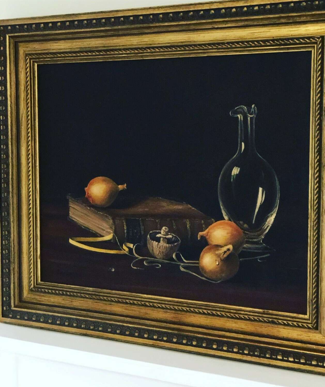 John Bampfield Still Life On Canvas.