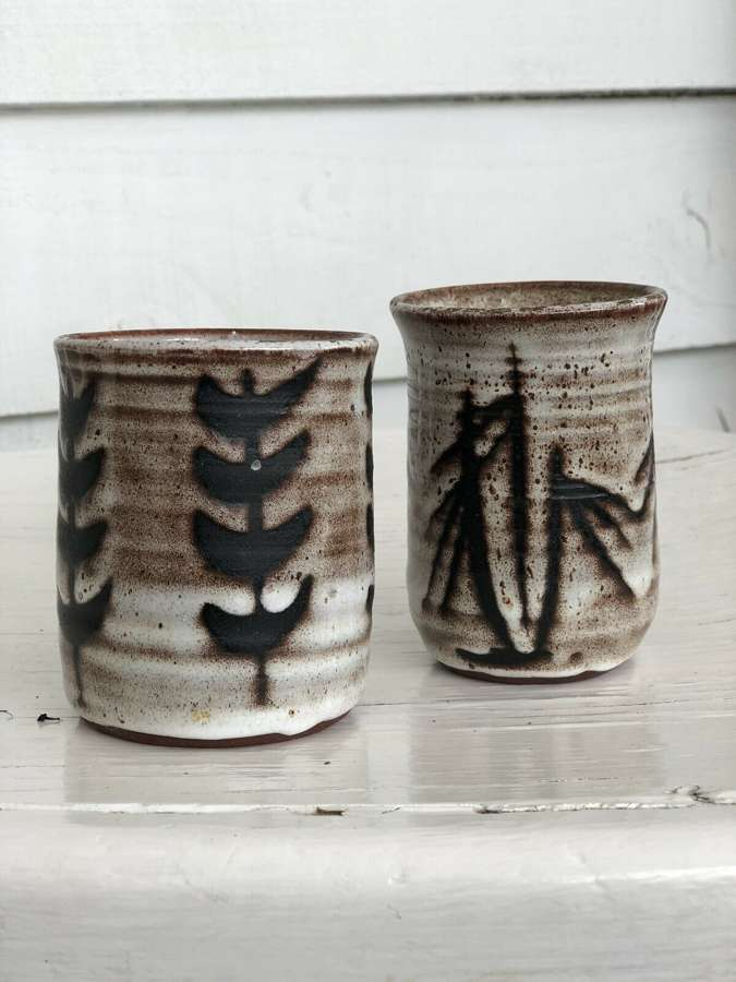 Tenby Pottery Studio Pots Japanese Tea Cups.