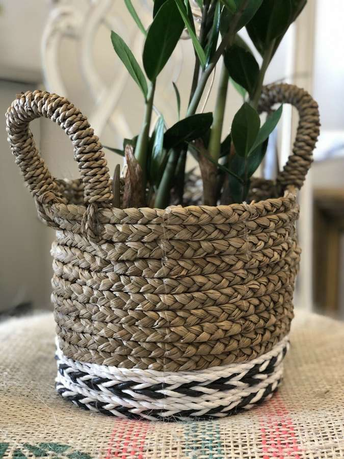 Handmade Fair Trade Seagrass Basket.