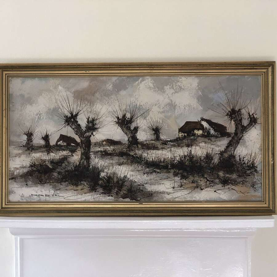 Mid century canvas signed Dorval
