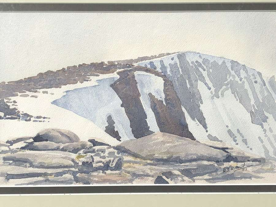 R.J.Kinnaird Cairngorms watercolour