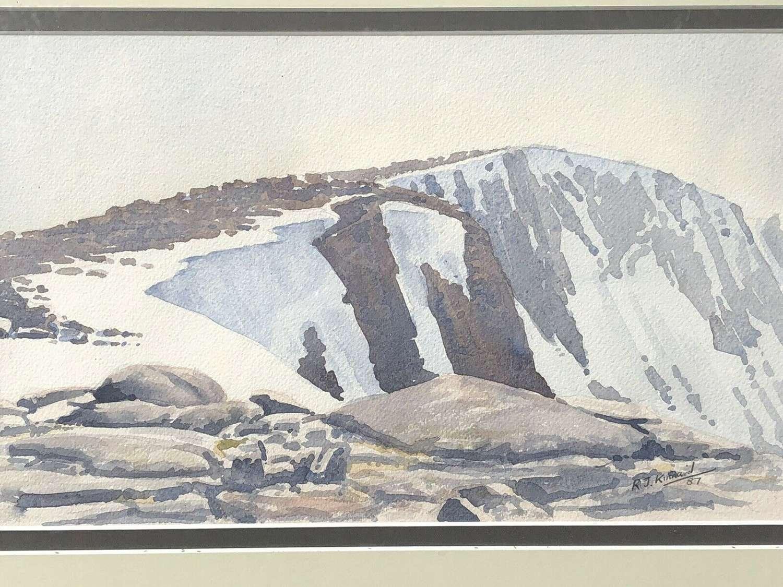 R.J.Kinnaird Cairngorms watercolour