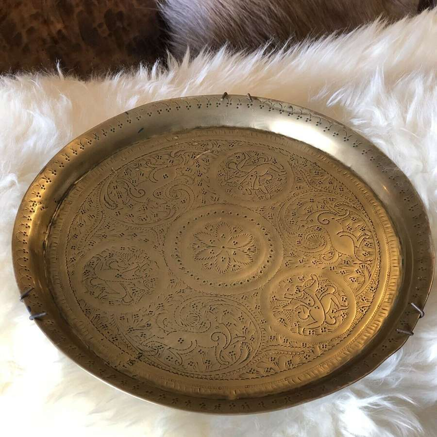 Indian brass charger