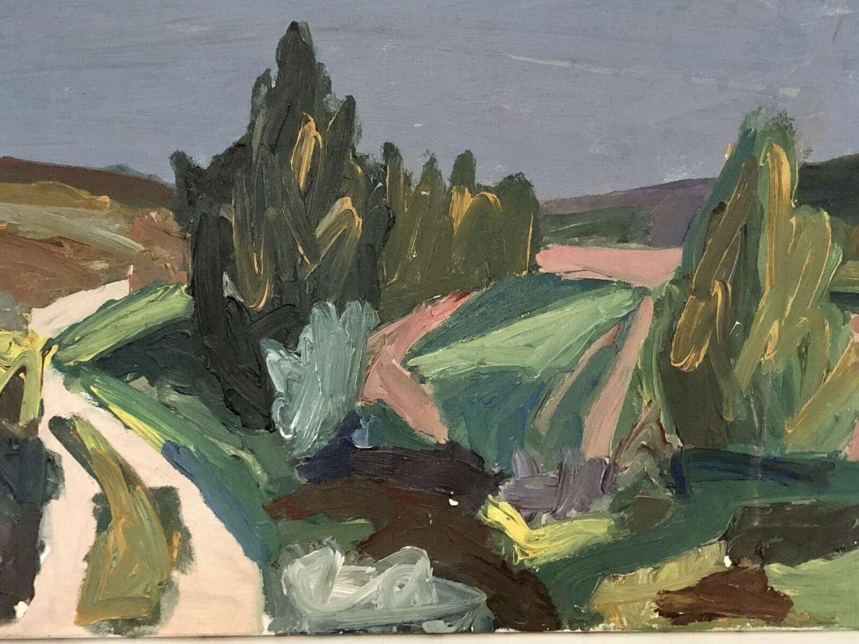 French Impasto landscape