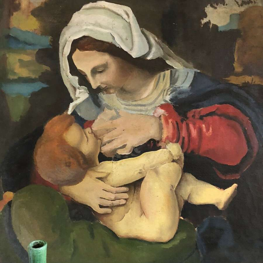 Madonna old master painting