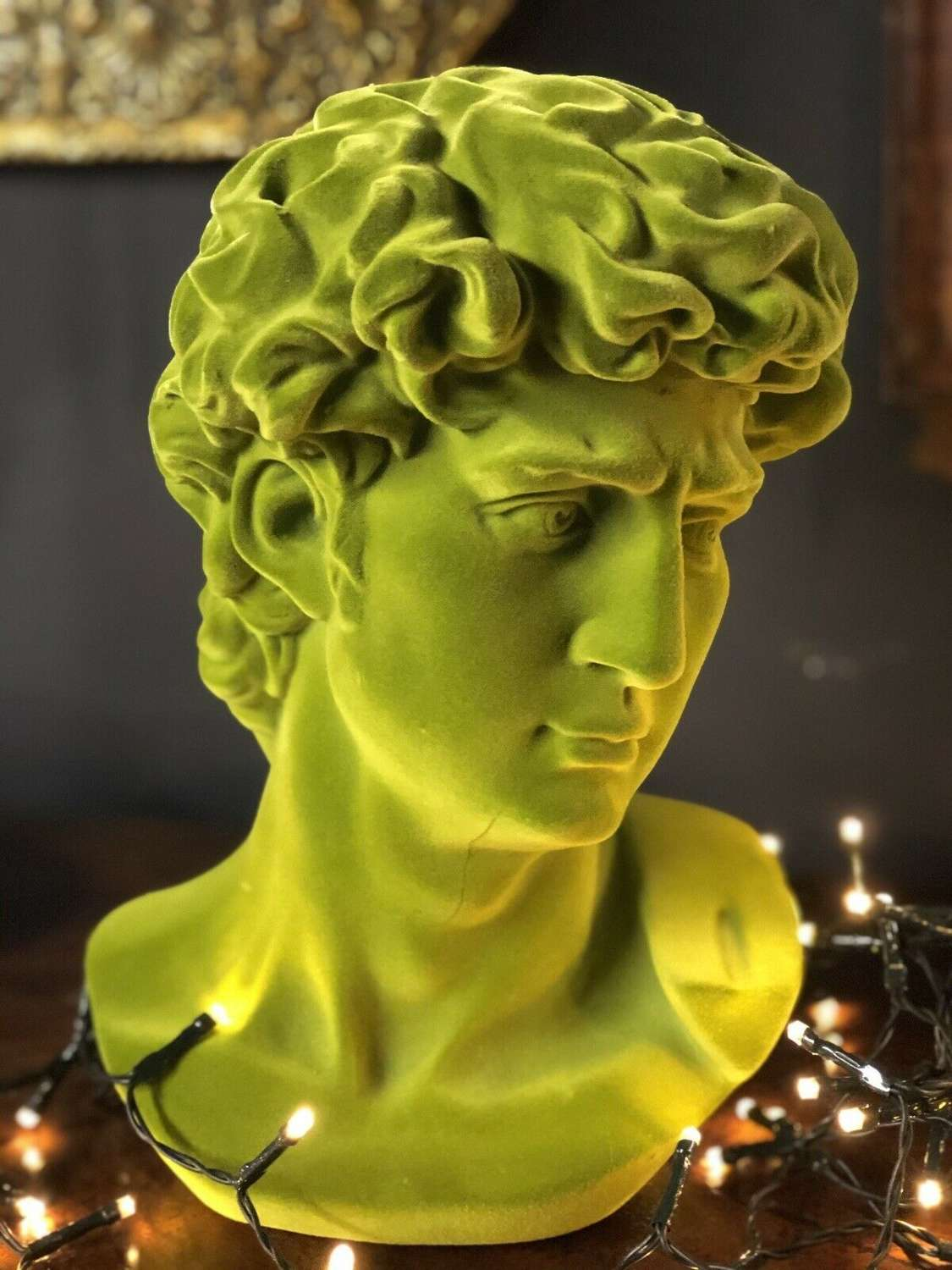 Flock green Michelangelo's David