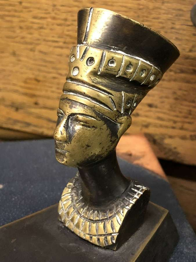 Neffertiti ash tray egyptian revival