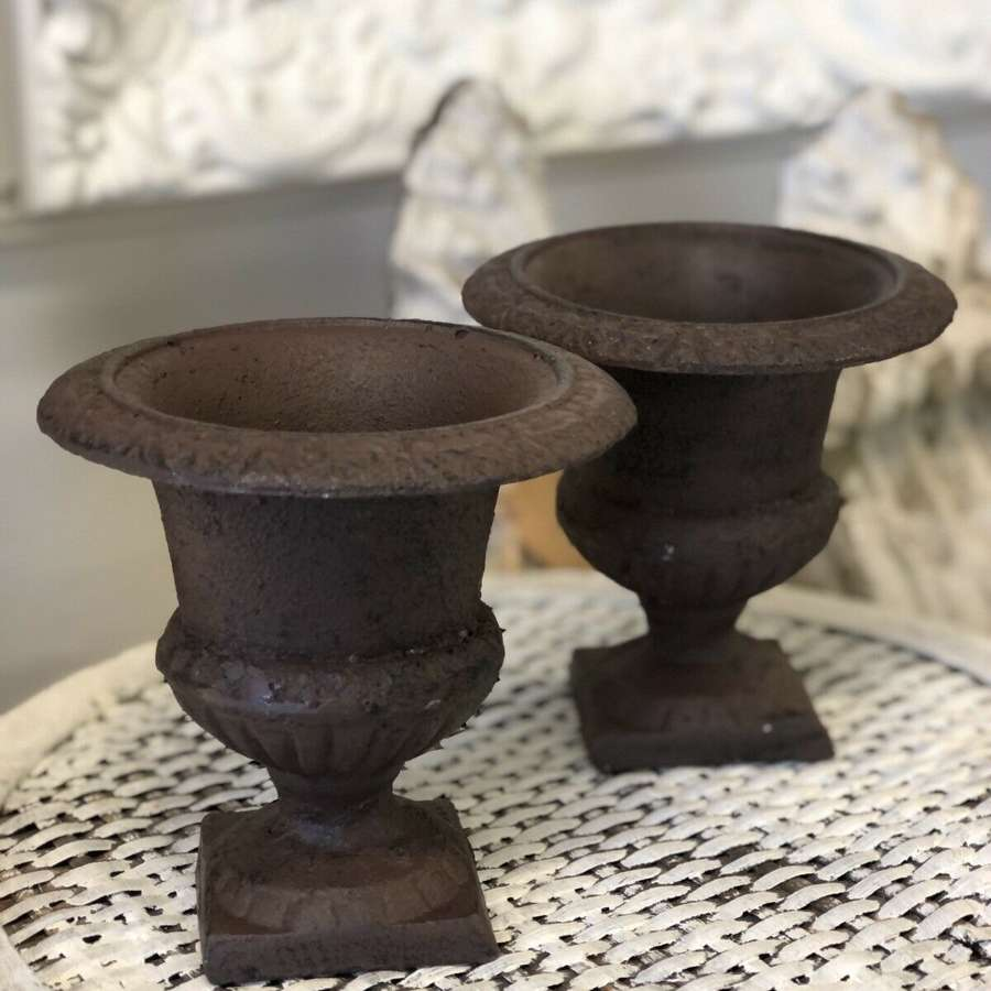 Mini cast iron urns
