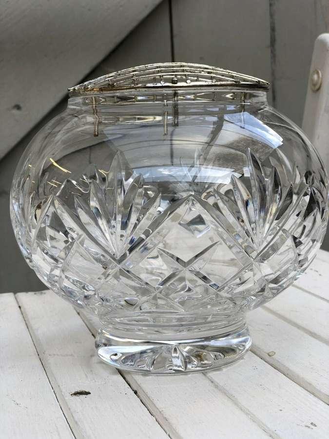 Crystal rosebowl