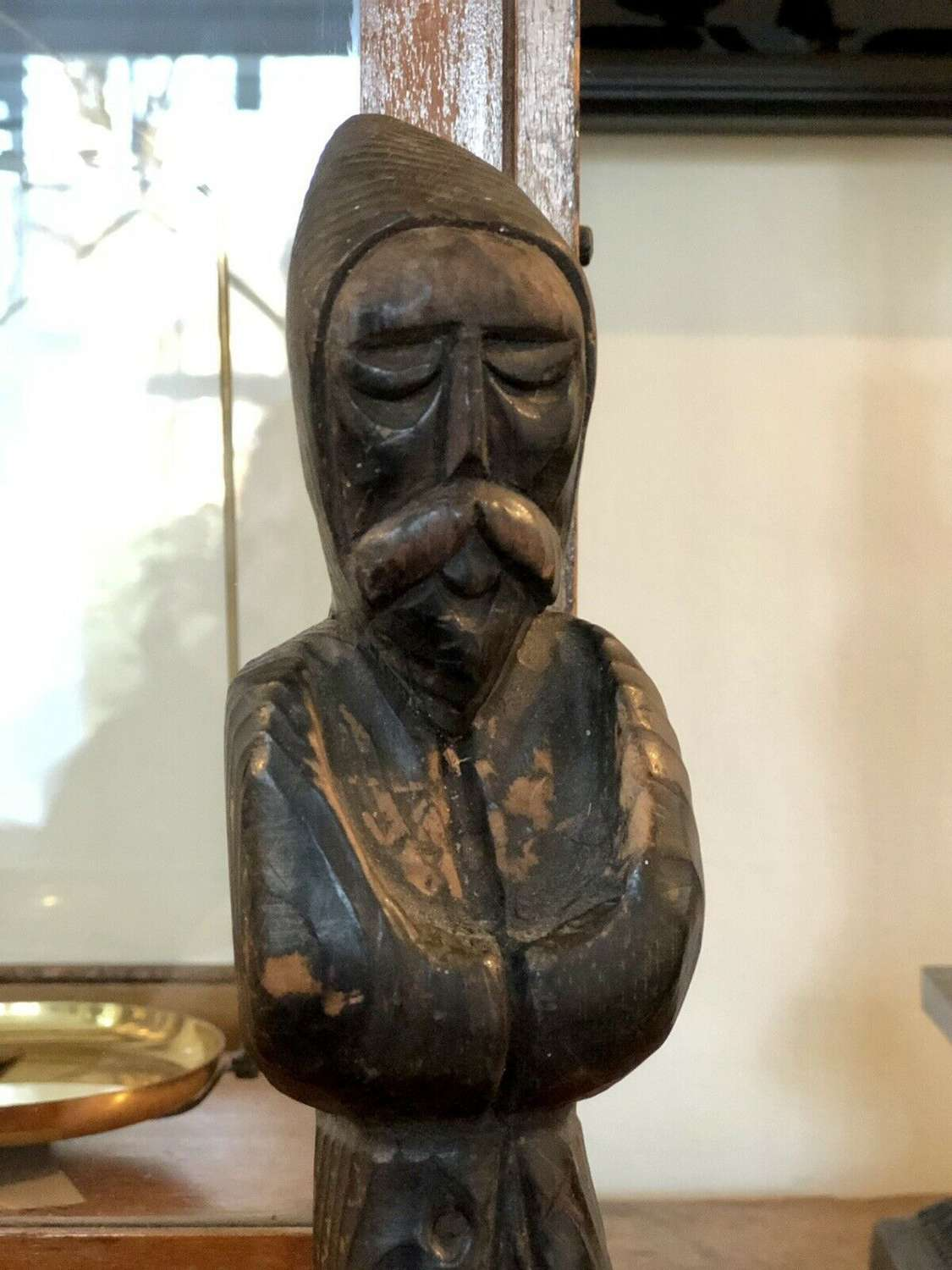 Antique carved holy figure