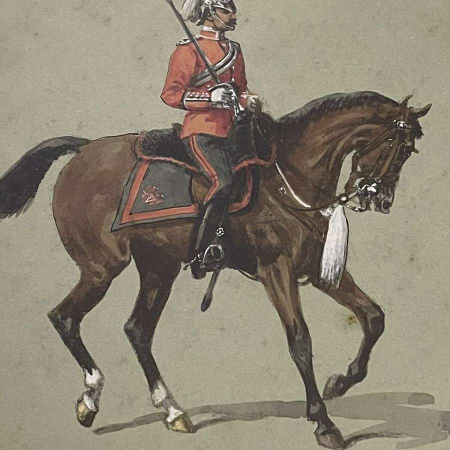 Fifeshire Light Horse Volunteer Officer 1899 watercolour