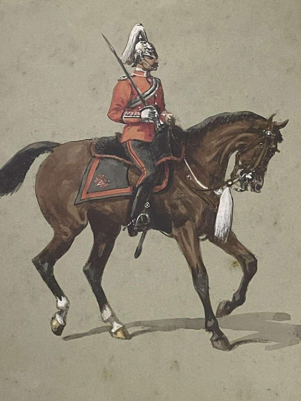 Fifeshire Light Horse Volunteer Officer 1899 watercolour
