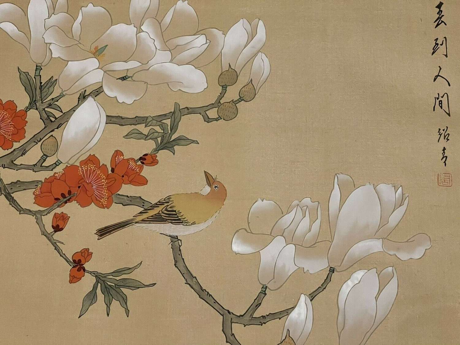 Chinese watercolour painting of Magnolia