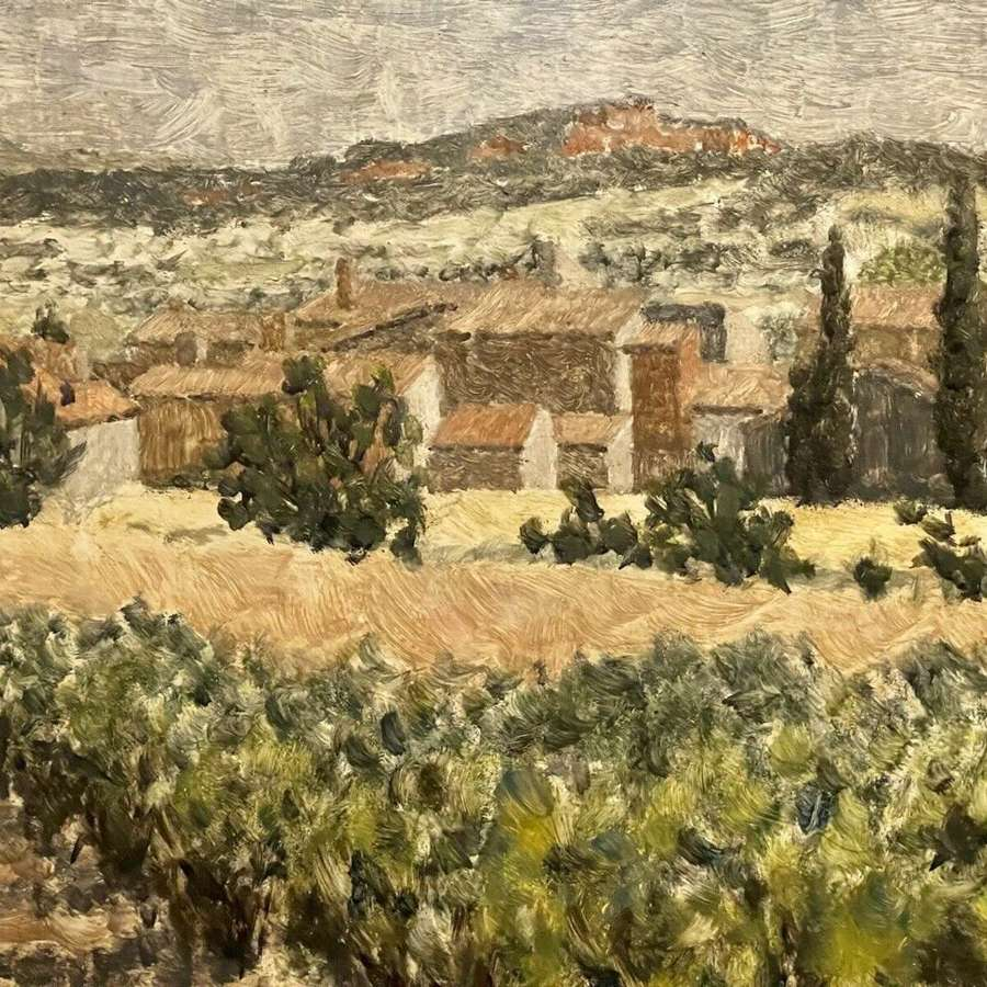 John Gordon Bill RWA Original Oil 1971 Vaucluse Provence France