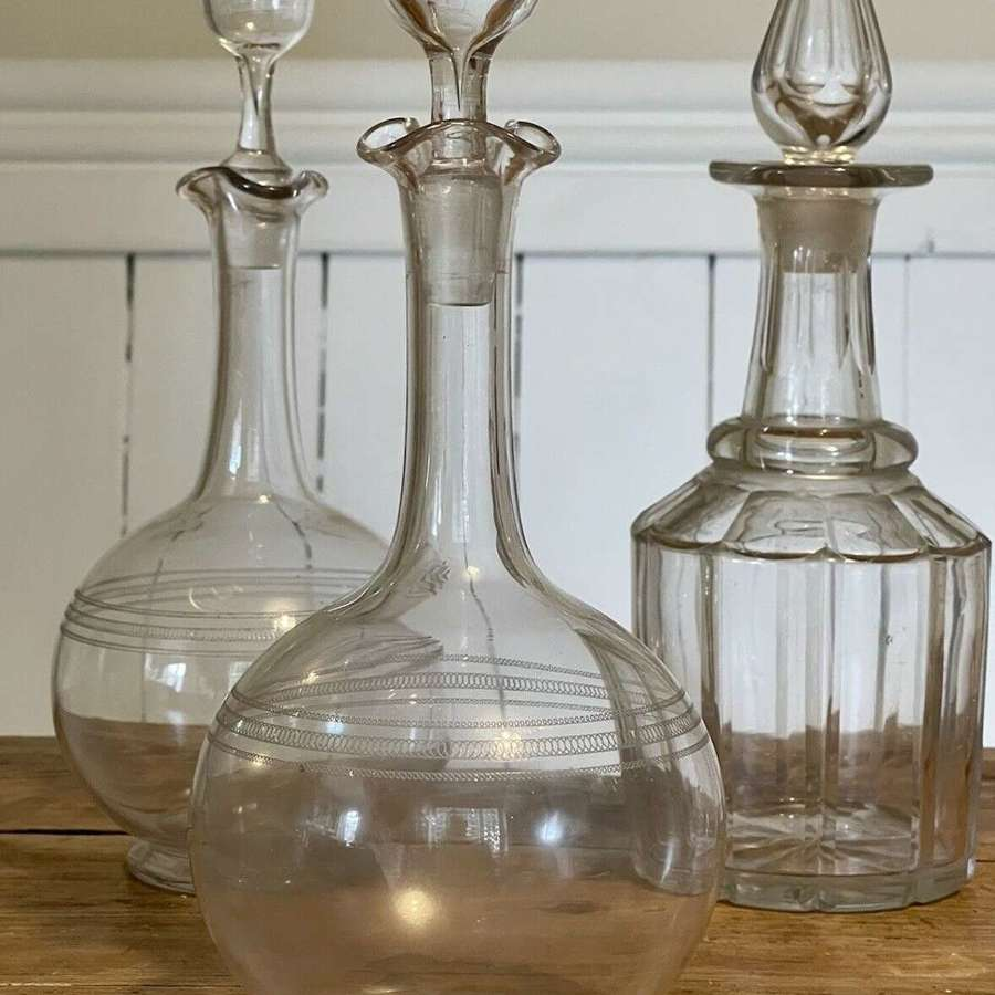 19th Century Cut Glass Decanter