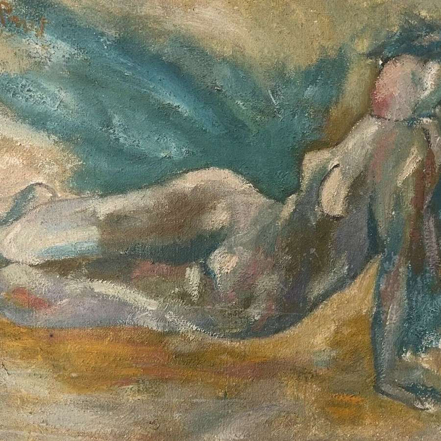 French nude on canvas