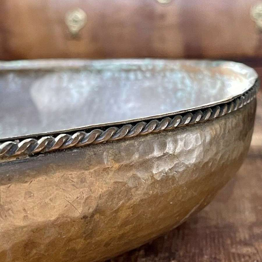 Hand hammered copper bowl
