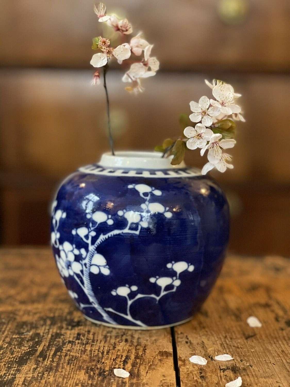 Chinese prunus ginger jar