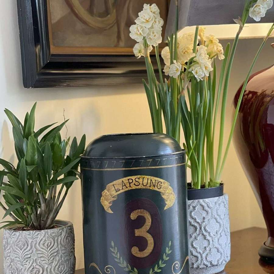 Antique tole tea canister number 3