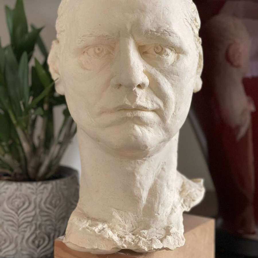 Sculpture male head
