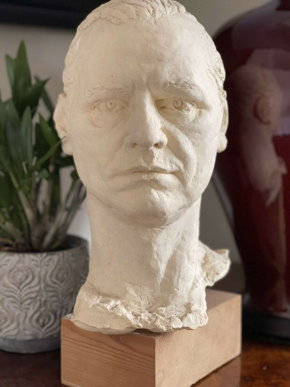 Sculpture male head